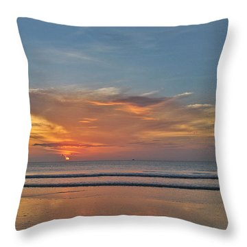 Throw Pillow featuring the photograph Jordan's First Sunrise by LeeAnn Kendall
