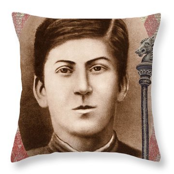 Joseph Stalin 14 Years Old Throw Pillow