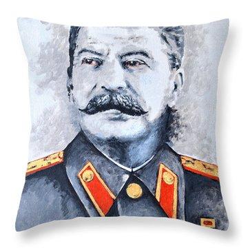 Joseph Stalin Throw Pillow