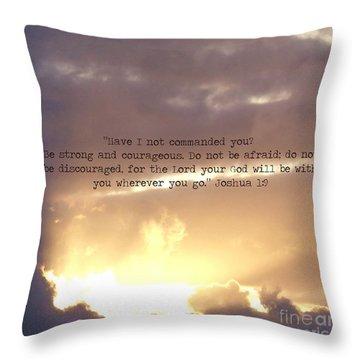 Joshua 1 Throw Pillow