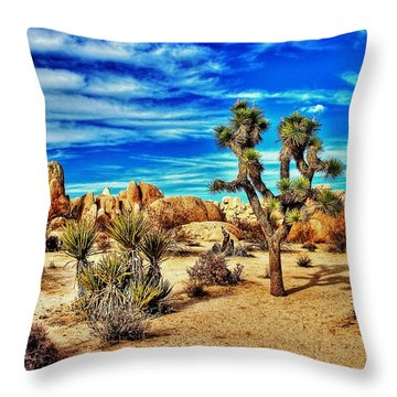 Throw Pillow featuring the photograph Joshua Tree by Benjamin Yeager