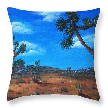 Joshua Tree Desert Throw Pillow by Anastasiya Malakhova