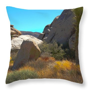 Joshua Tree National Park Throw Pillow