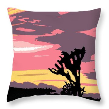 Joshua Tree National Park Vintage Poster Throw Pillow by Eric Glaser