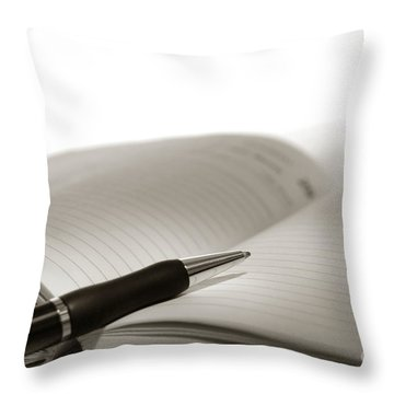 Journal Throw Pillow by Olivier Le Queinec