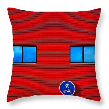 Window Signs Throw Pillows