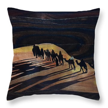 Journey To Holy Land Throw Pillow