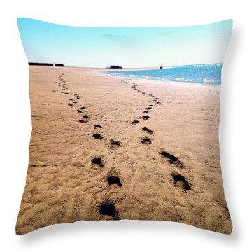 Journey Throw Pillow by KarishmaticArt -  Karishma Desai