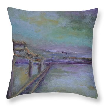 Journey Throw Pillow by Mary Wolf