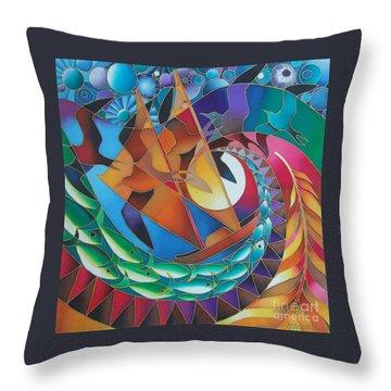 Journey Of The Vaka IIi Throw Pillow