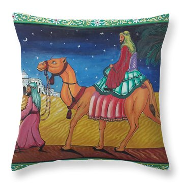 Journey Through Desert Throw Pillow