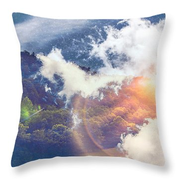 Journey To Another Dimension Throw Pillow
