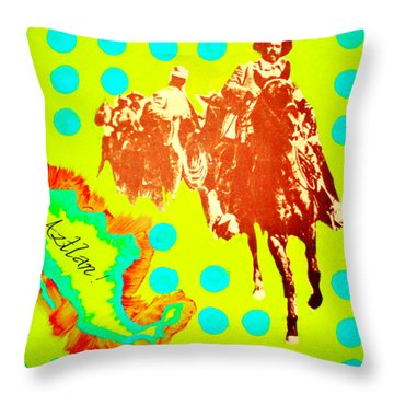 Throw Pillow featuring the painting Journey To Aztlan by Michelle Dallocchio