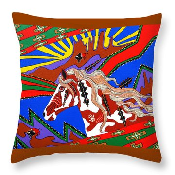 Throw Pillow featuring the painting Journeys Past by Debbie Chamberlin