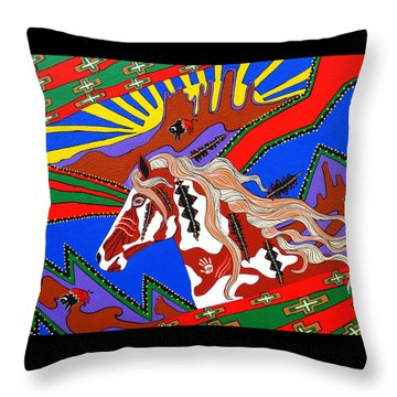 Journeys Past Throw Pillow
