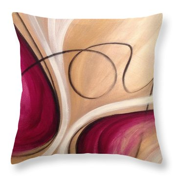 Joy And Strength Dance Together Throw Pillow