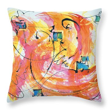Joy Throw Pillow by Asha Carolyn Young