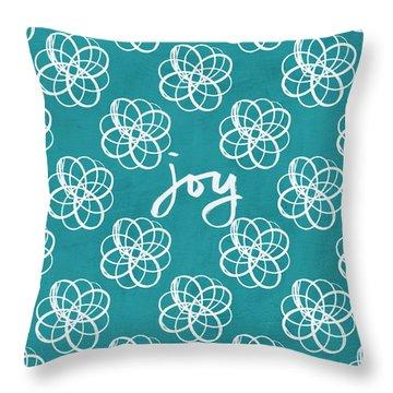 Joy Boho Floral Print Throw Pillow