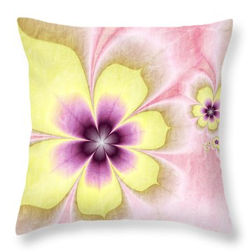 Throw Pillow featuring the digital art Joy by Gabiw Art