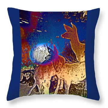 Joy In The Holidays Throw Pillow by Lenore Senior and Dawn Senior-Trask