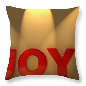Joy Throw Pillow by Leah Hammond