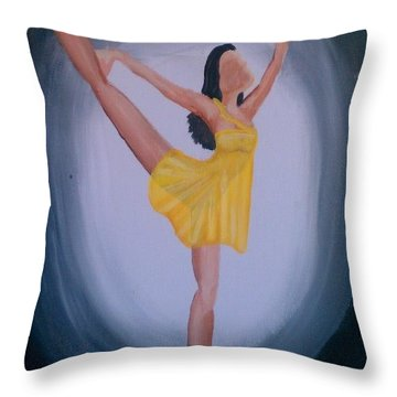 Throw Pillow featuring the painting Joy by Marisela Mungia