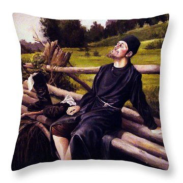 Throw Pillow featuring the painting Joy Of Life by Mikhail Savchenko