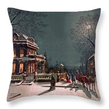 Throw Pillow featuring the digital art Joy Of The Season by Lianne Schneider