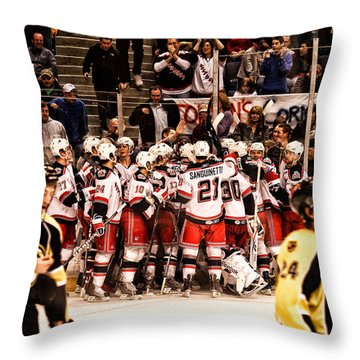 Joy Of Victory Agony Of Defeat Throw Pillow by Karol Livote