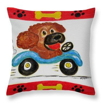 Throw Pillow featuring the painting Joy Ride by Diane Pape