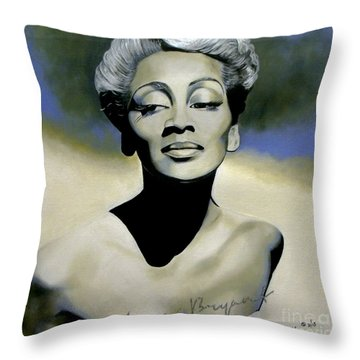 Joyce Bryant  Throw Pillow