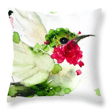 Joyful Flight Throw Pillow