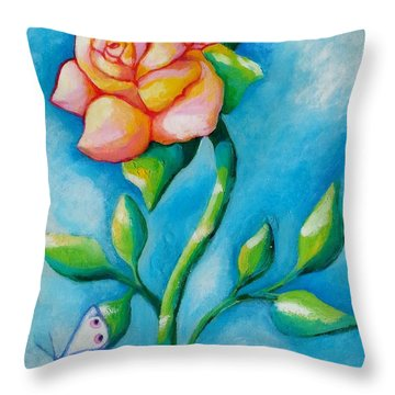 Joyful Garden #2 Top Panel Throw Pillow
