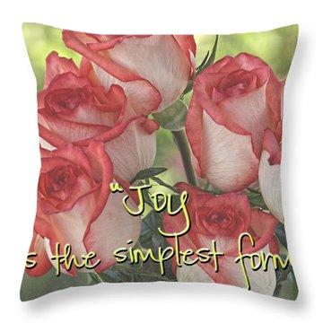Joyful Gratitude Throw Pillow