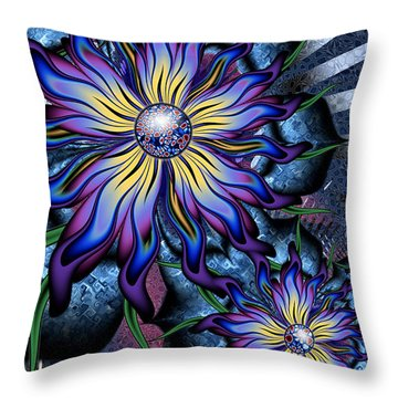 Joyful Julia Throw Pillow by Kim Redd