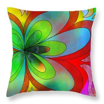 Joyful Peace - Paix Joyeuse Throw Pillow by Louise Lamirande