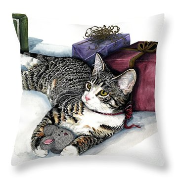 Joyful Throw Pillow by Shari Nees