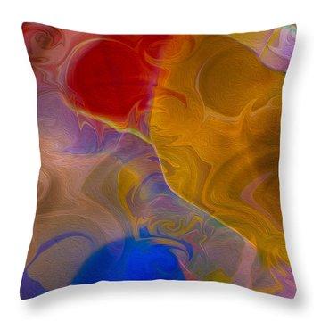 Joyful Sorrow Throw Pillow by Omaste Witkowski