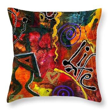 Joyfully Living Life Anew Throw Pillow by Angela L Walker