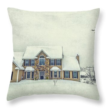 Joyless Trance Of Winter Throw Pillow