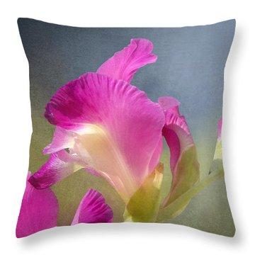 Joyously Pretty Throw Pillow by Kathi Mirto