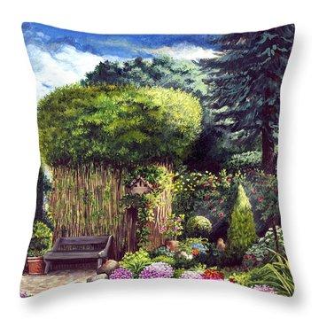 Joy's Garden Throw Pillow