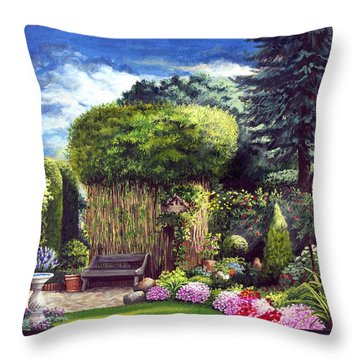Joy's Garden Throw Pillow