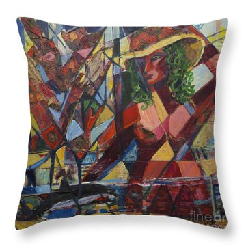 Throw Pillow featuring the painting Joys Intended by Avonelle Kelsey