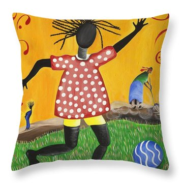 Joy's Promise Throw Pillow by Patricia Sabree