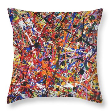 Throw Pillow featuring the painting JP by Michael Cross