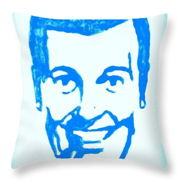 J.r. Bob Dobbs Pop Art Church Subgenius Throw Pillow by Bob Baker