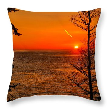Juan De Fuca Sunset Throw Pillow