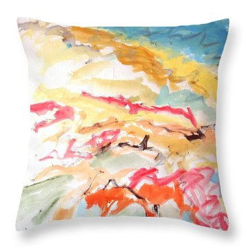 Jubilation Throw Pillow by Esther Newman-Cohen
