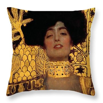 Judith And The Head Of Holofernes Throw Pillow